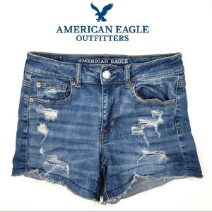 AMERICAN EAGLE HI-RISE SHORTIE SHORTS (4)